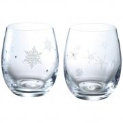 NARUMI  鸣海 雪花&星星 玻璃对杯 260cc