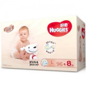 HUGGIES 好奇 铂金装 婴儿纸尿裤 L104片 *2件306元包邮(合153元/件)