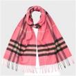 Burberry 博柏利 经典格子羊绒围巾 亮玫瑰色$299(约2057元)