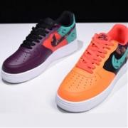 "Nike耐克 Air Force 1 LV8 ""What The 90s"" 鸳鸯配色大童款"