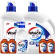 Walch 威露士 多效洗衣液瓶装套装 (洗衣液3kg*2+内衣净300g+消毒液60ml*4) *2件 +凑单品104.56元包邮(需用券)