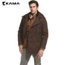 KAMA 卡玛 男士加厚休闲棉衣外套