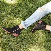 Prime会员镇店之宝,Sam Edelman 女士Packer真皮粗跟短靴 F3071L 3色