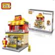 LOZ 俐智 迷你街景系列1607 快餐店26元包邮(需领券)