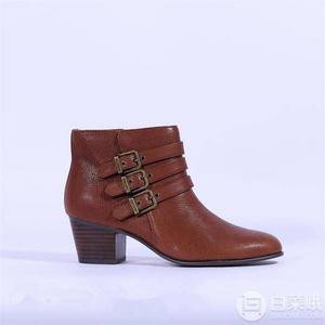 限US5码,Clarks 其乐 Maypearl Rayna 女士时尚侧拉链粗跟踝靴 Prime会员免费直邮含税