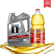 Mobil 美孚1号 全合成机油 5W-30 SN级 4L+金龙鱼黄金比例调和油1.8L