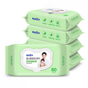 0荧光剂 0酒精:青蛙王子 婴儿带盖手口湿巾 80片x5包装