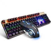 Sades 赛德斯 烽影机械键盘鼠标套装 (黑色混光 青轴) 134元包邮