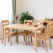 TIMI 天米 日式白橡实木餐桌椅 (1.4米餐桌+4把高背椅)¥2850