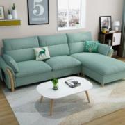 一米色彩 北欧日式小户型布艺沙发 2.6米1858元包邮(双重优惠)