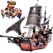 GUDI 古迪 9115 黑珍珠号 积木拼装玩具船  68元包邮