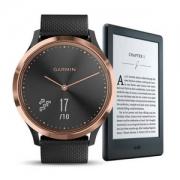 Garmin 佳明 vivomove HR  运动版智能手表 + Kindle电子书阅读器