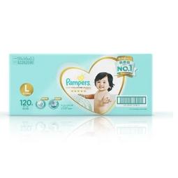 Pampers 帮宝适 一级系列 婴儿纸尿裤 L120片 *4件  655.2元包邮