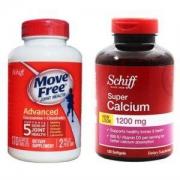 Schiff Move Free氨糖软骨素 红盒 170粒+液体钙软胶囊 120粒 *2套