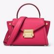 18新款 MICHAEL KORS Whitney 女士迷你手提斜挎包 玫红色史低849元包邮包税