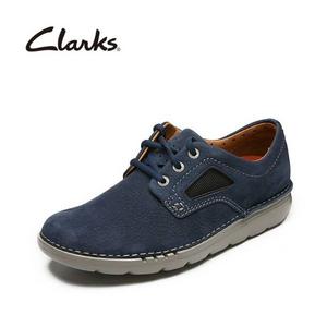 UK8.5码 Clarks 其乐 高端UN系列 Unnature Plain 男士真皮系带休闲鞋 Prime会员免费直邮含税