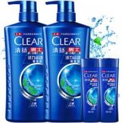 CLEAR 清扬 活力运动薄荷型 洗发露套装(720g*2+100g*5)
