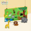 Jollybaby 8224J 宝宝立体粘贴布书 丛林动物  78元包邮78元包邮