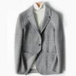 BEE MIXMAN 男士双面呢千鸟格西装外套(70%羊毛)428元包邮(578-150)