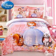 Disney 迪士尼 官方授权儿童床上用品磨毛三/四件套 1.0~1.8米 男女童多款