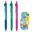Paper Mate 缤乐美 300RT 意趣圆珠笔 0.7mm 蓝色+绿色+玫红 3支装 *3件16.8元(合5.6元/件)