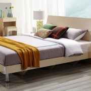 QuanU 全友 106302 现代简约卧室家具组合套装(1.8m床+2个床头柜+床垫)
