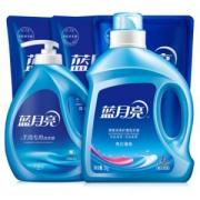 蓝月亮 洗衣液套装(2kg+机洗1kg*2袋+手洗1kg+手洗1kg) *2件103.6元(双重优惠)