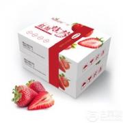 京东生鲜 新鲜现摘红颜奶油草莓 30-40颗 1kg礼盒装