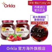 丹麦原装进口,DGF 草莓果肉果酱380g*2罐