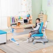 心家宜 进口实木手摇机械升降儿童学习桌椅套装M173+M215 两色 包安装+送原装椅套+晒单送护眼灯