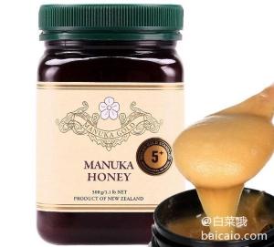 Prime会员专享镇店,新西兰进口 Manuka Gold 麦卢卡蜂蜜(5+) 500g*2瓶 178元包邮