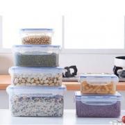 龙士达  塑料保鲜盒 6件套(0.86L+1.7L+0.4L+1.1L+2.5L+1L) *3件