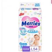 Merries 妙而舒 婴儿纸尿裤 L54片