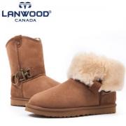 Lanwood 澳洲美利奴羊皮毛一体 雪地靴 3.5cm内增高¥258