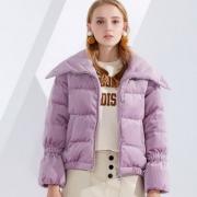 波司登  2018冬季新品女士丝绒短款羽绒服