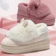 回力 女士冬季加绒保暖豆豆鞋