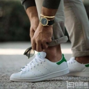 Adidas Originals 阿迪达斯 Stan Smith 男款复古小白鞋 绿尾307元包邮