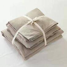 Addoil 日式简约良品四件套 被套200*230cm (米色, 1.5米床笠款)