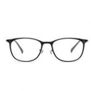 小米(MI)TS眼镜框 椭圆形黑色男女款ULTEM钨钛超轻