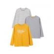 限尺码: vertbaudet 儿童长袖T恤 3件装 *3件109元包邮(需用券,合12.1元/件)