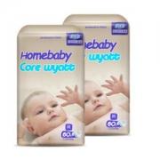 homebaby 家得宝 婴儿纸尿裤  M码 120片 *2件175元包邮(合0.73元/片)