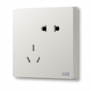 ABB AF205 轩致雅典白86型五孔墙壁插座*8只