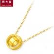 CHOW TAI FOOK 周大福 F206495 简约圆形足金黄金项链 5.8g1832.4元包邮(双重优惠)
