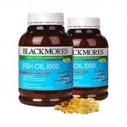 澳洲进口 400粒x2瓶  澳佳宝 Blackmores 深海鱼油软胶囊