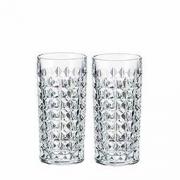 Crystalite Bohemia 波希米亚 水晶玻璃金刚系列冷饮杯 260ml*2只 99元包邮