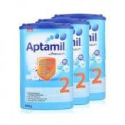 21日0点: Aptamil 德国爱他美 婴儿奶粉 2段 800克 3罐装216.84元含税包邮(前2小时)
