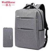 wolfhorse 防盗双肩背包电脑包 送零钱包43.8元包邮(需用券)