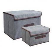 Supple 布艺收纳箱 两件套14.9元包邮(下单立减)