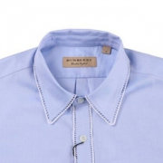 BURBERRY 巴宝莉 男士蓝色棉质长袖衬衫 40686831