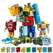 QIHUI 启辉 数字变形合体机甲战队 积木玩具套装  49.9元包邮49.9元包邮